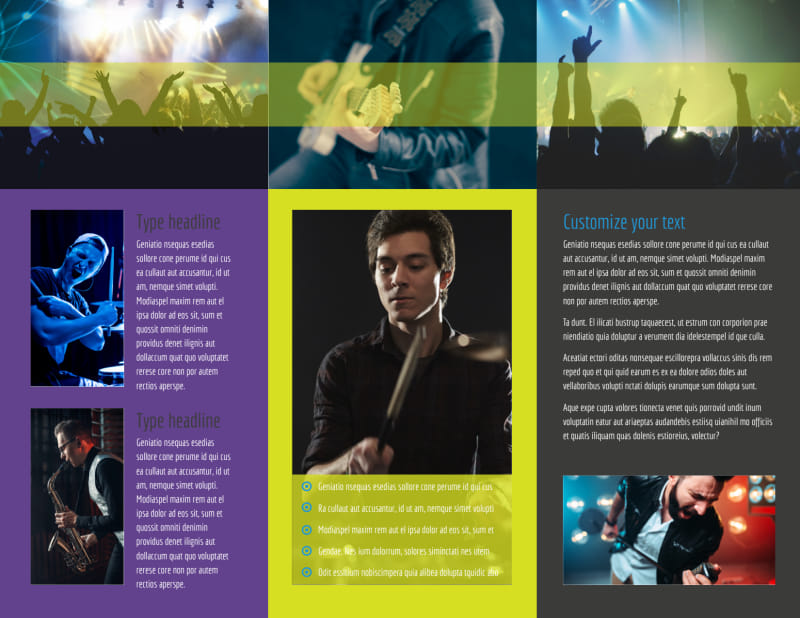 Christian Music Concert Brochure Template Preview 3