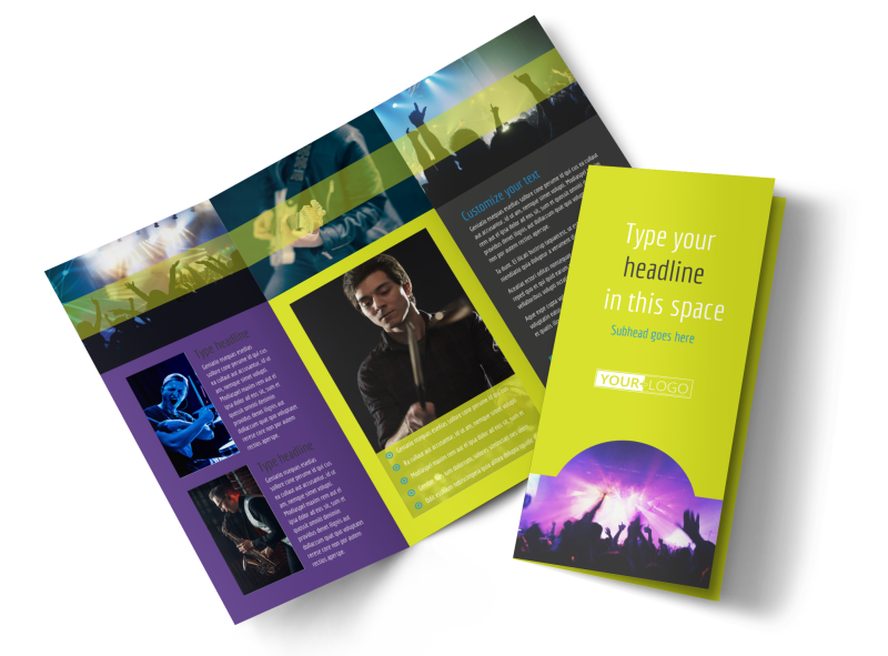 Christian Music Concert Brochure Template Preview 1