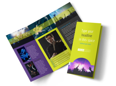Christian Music Concert Tri-Fold Brochure Template preview