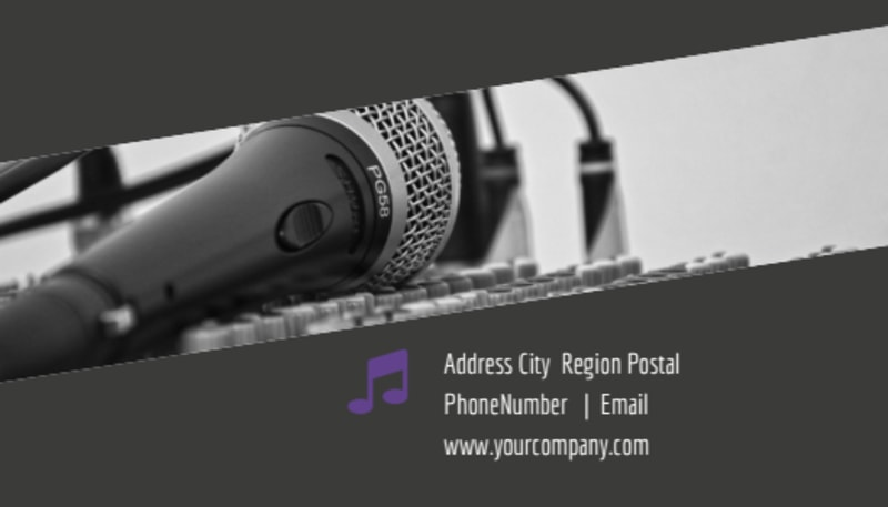 Christian Music Concert Business Card Template Preview 3