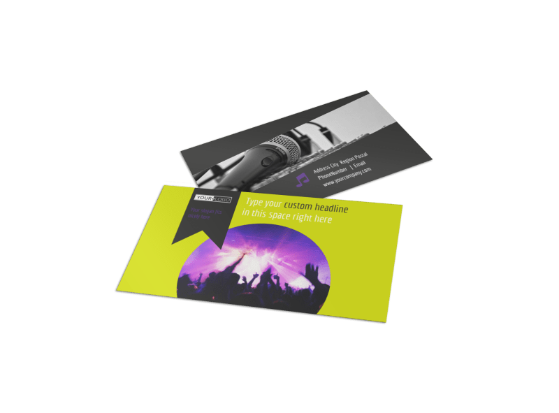 Christian Music Concert Business Card Template Preview 1