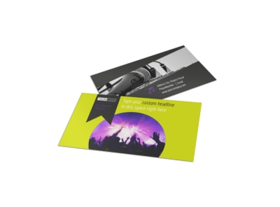 Christian Music Concert Business Card Template preview