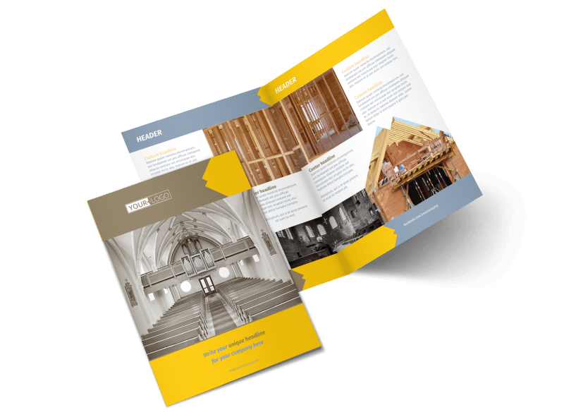 Church Construction Brochure Template Preview 1