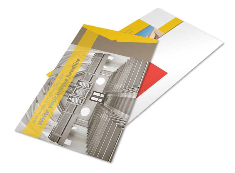 Church Construction Postcard Template 2