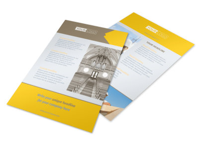 Church Construction Flyer Template 3 preview