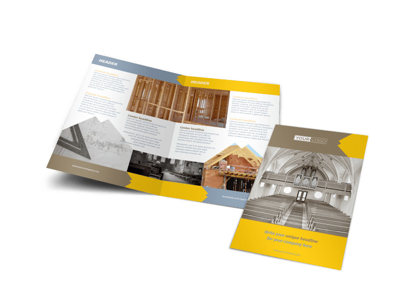 Church Construction Brochure Template Preview 4