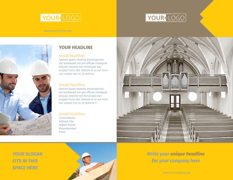Church Construction Brochure Template Preview 2