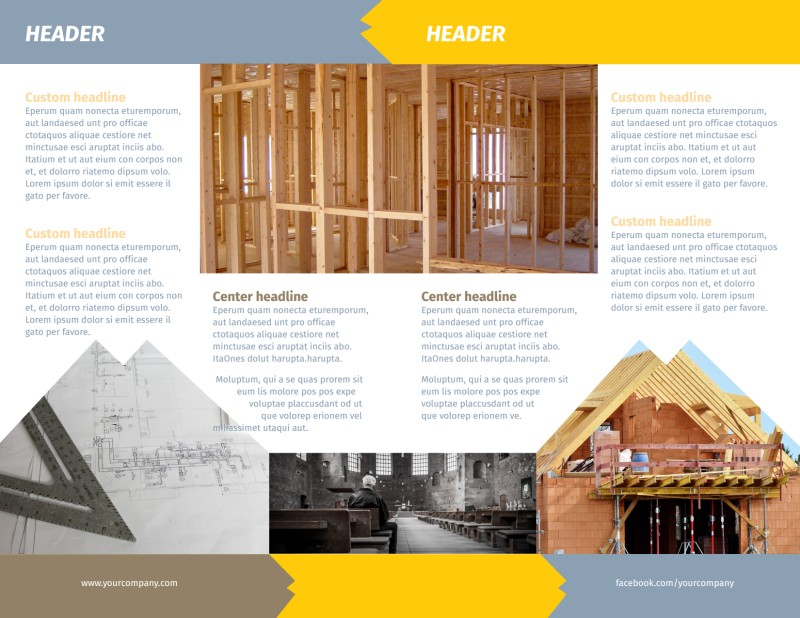Church Construction Brochure Template Preview 3