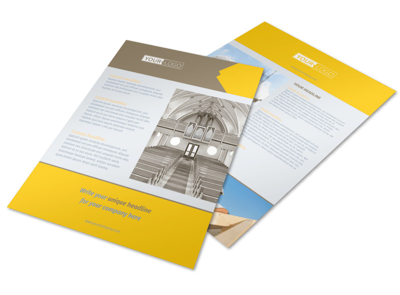 Church Construction Flyer Template Mycreativeshop