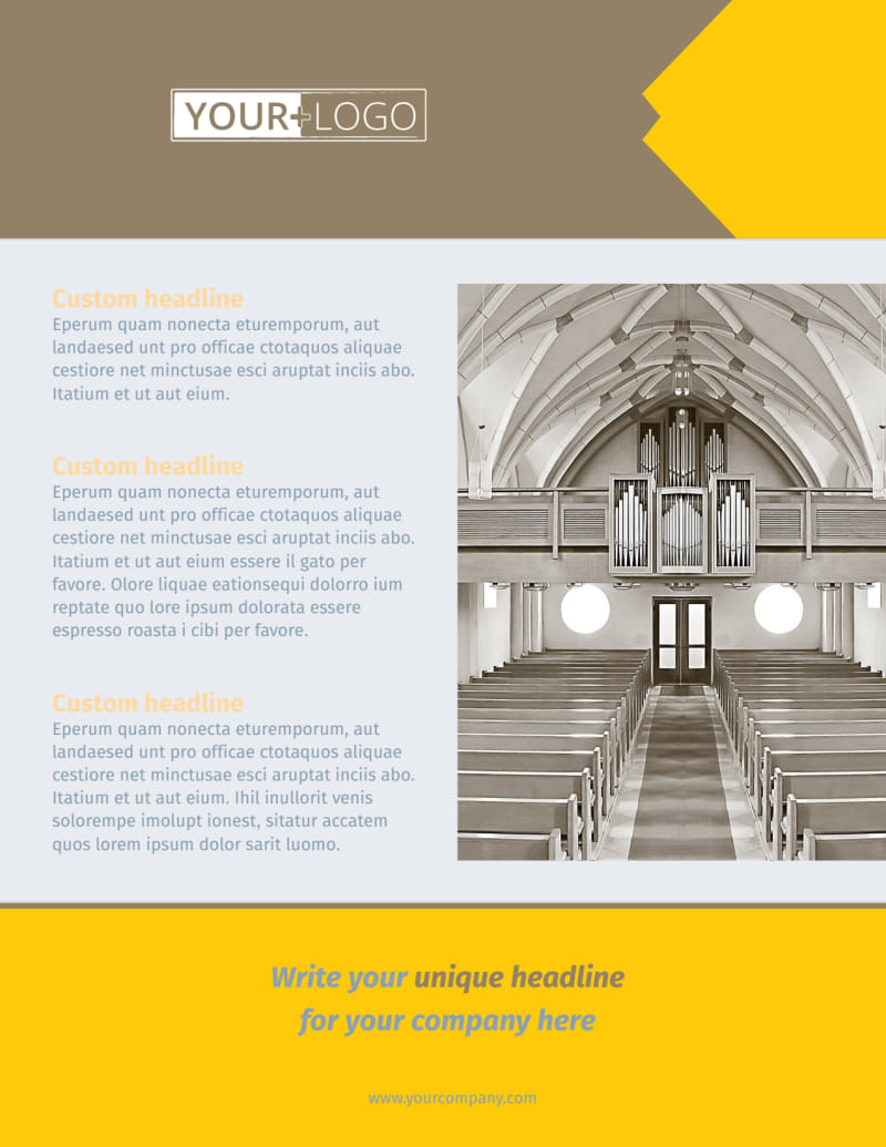 Church Construction Flyer Template Preview 2