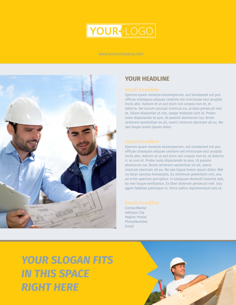 Church Construction Flyer Template Preview 3