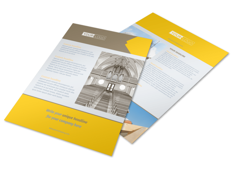 Church Construction Flyer Template Preview 1