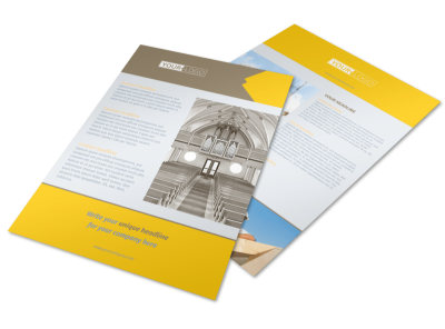 Church Construction Flyer Template preview