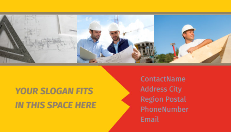 Church Construction Business Card Template Preview 3