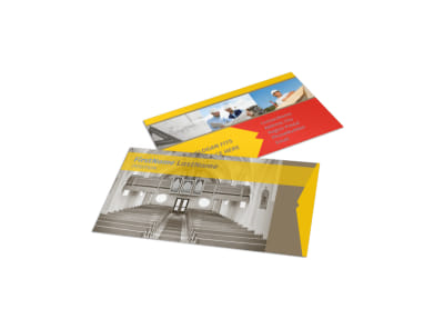 Church Construction Business Card Template preview