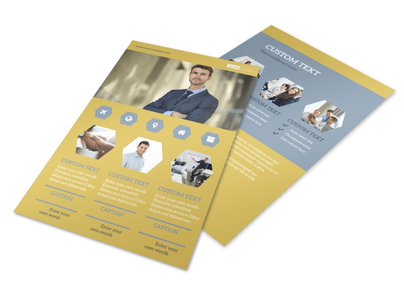 Venture Management Flyer Template 3