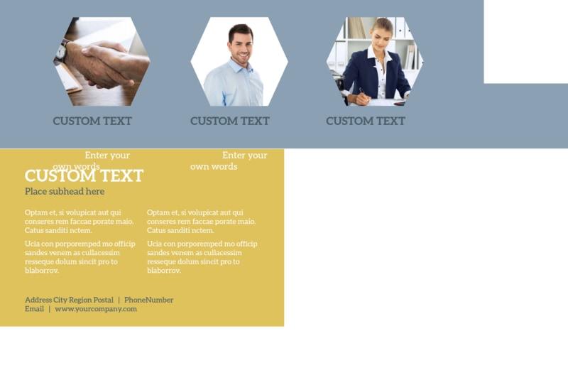 Venture Management Postcard Template Preview 3