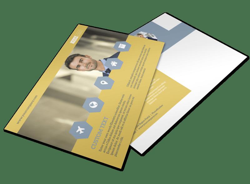 Venture Management Postcard Template Preview 1