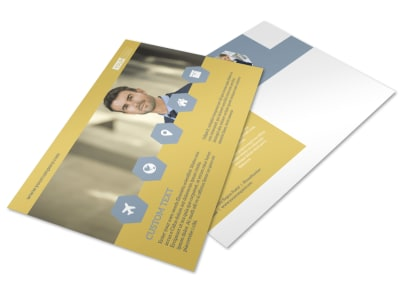 Venture Management Postcard Template preview