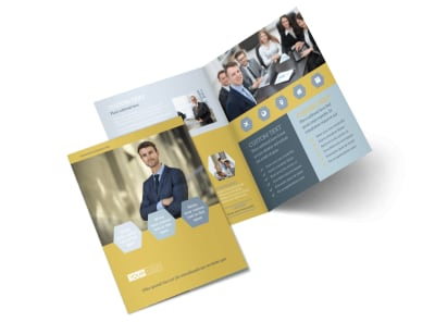 Venture Management Bi-Fold Brochure Template 2
