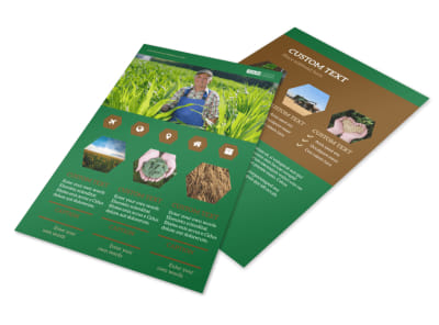 Agriculture Consultants Flyer Template 3