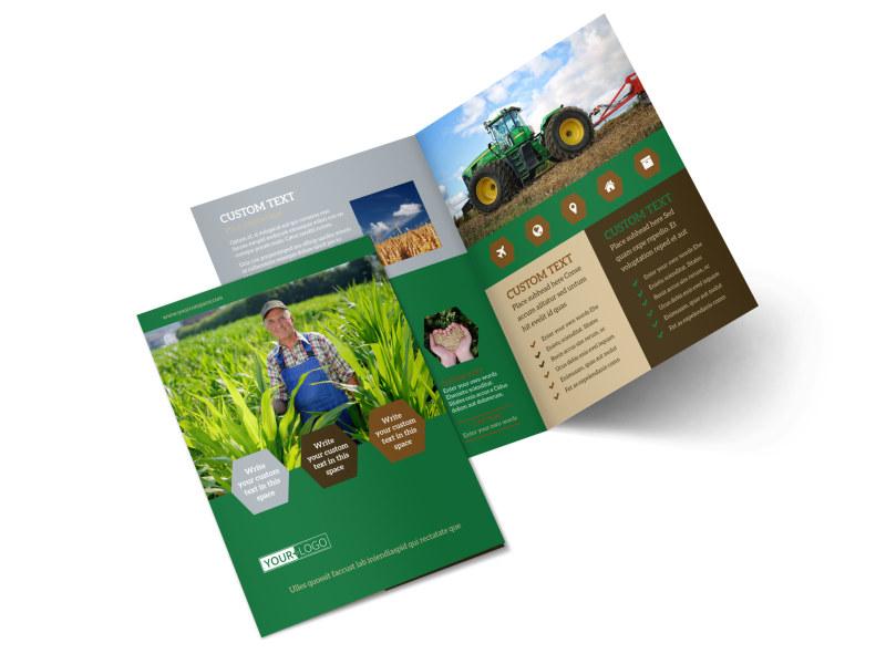 Agriculture Consultants Bi-Fold Brochure Template 2