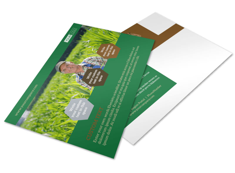 Agriculture Consultants Postcard Template 2
