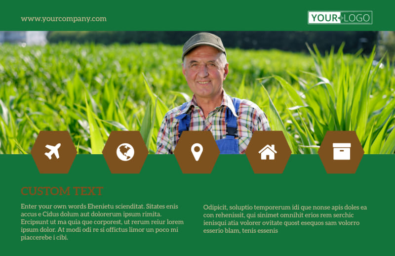 Agriculture Consultants Postcard Template Preview 2