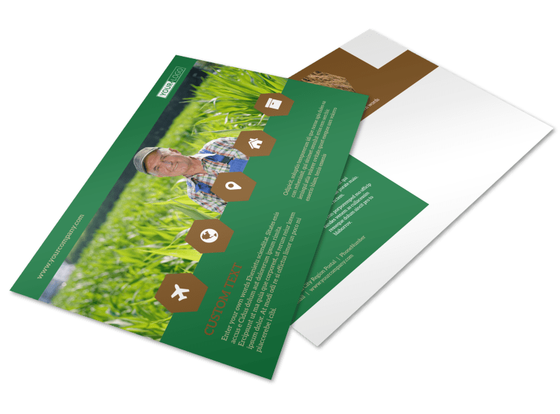 Agriculture Consultants Postcard Template Preview 1