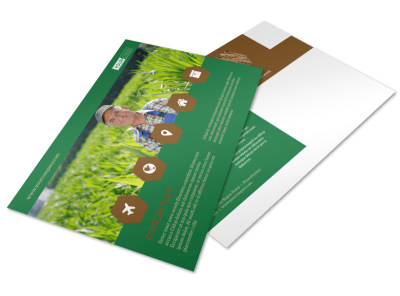 Agriculture Consultants Postcard Template preview