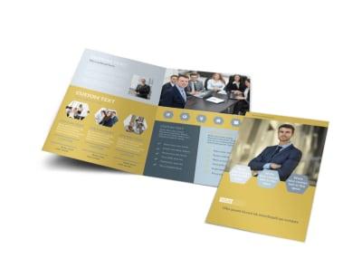 Venture Management Bi-Fold Brochure Template preview