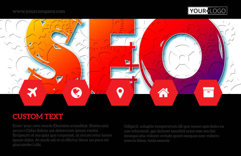 SEO Agency Postcard Template Preview 2