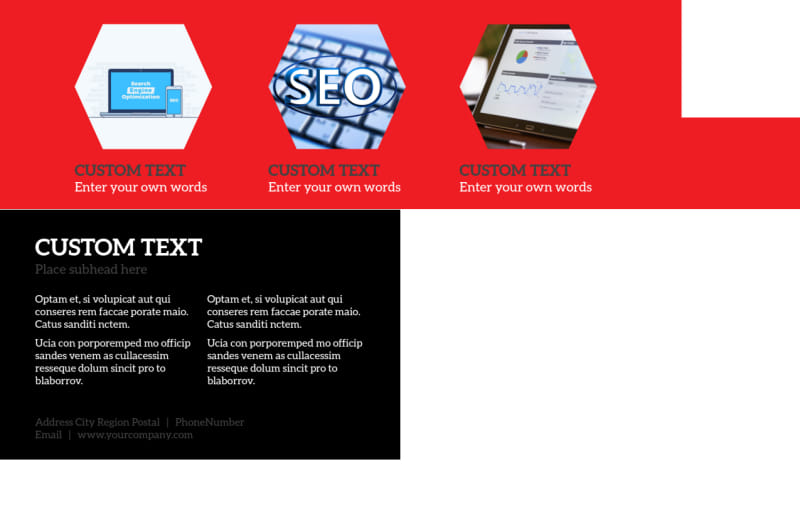 SEO Agency Postcard Template Preview 3