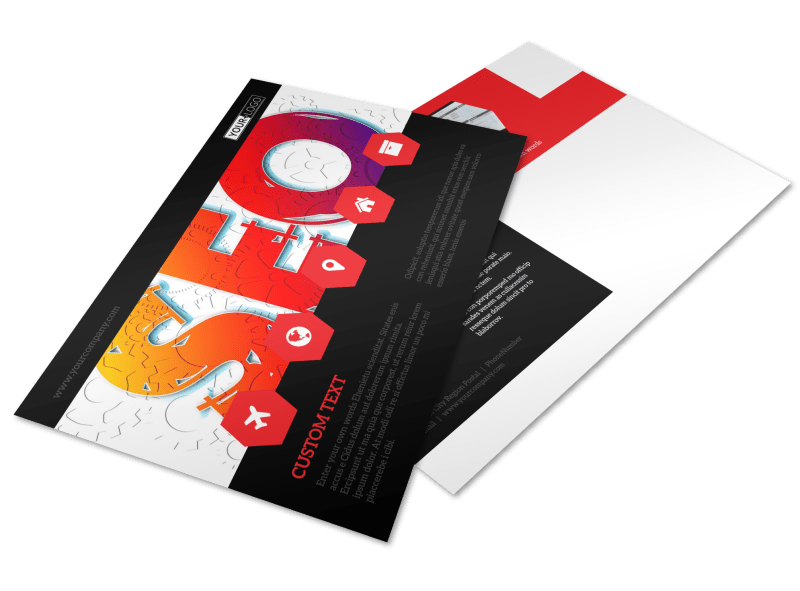 SEO Agency Postcard Template Preview 1