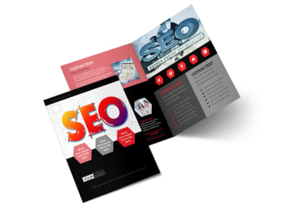 SEO Agency Bi-Fold Brochure Template 2