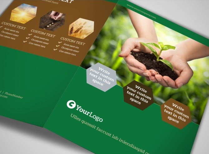 agriculture brochure templates free - agriculture consultants bi fold brochure template