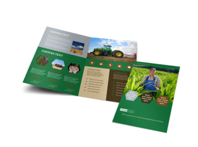 Agriculture Consultants Bi-Fold Brochure Template preview