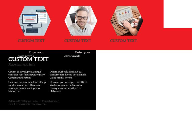 Web Development Postcard Template Preview 3