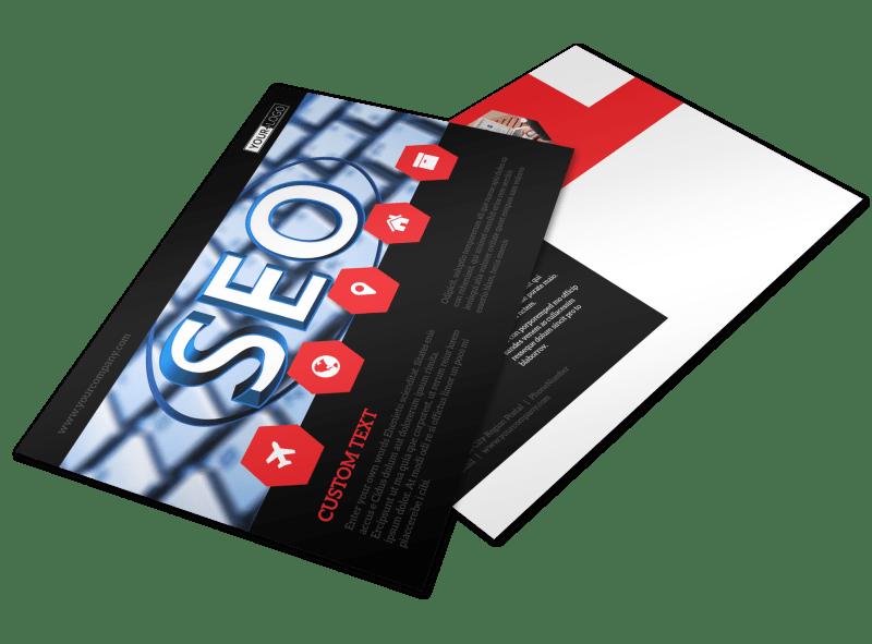 Web Development Postcard Template Preview 1