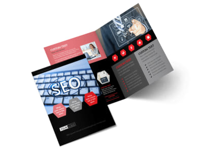 Web Development Bi-Fold Brochure Template 2