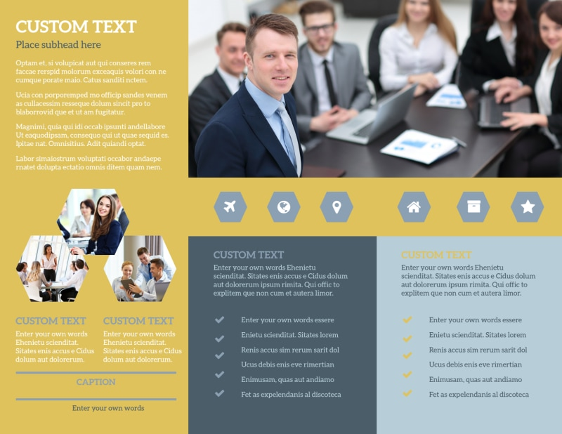 Venture Management Brochure Template Preview 3
