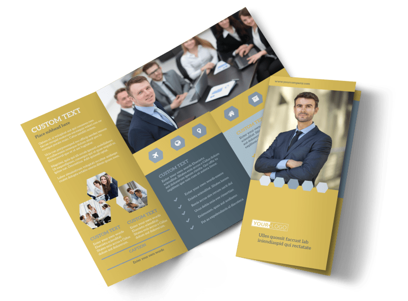 Venture Management Brochure Template Preview 1