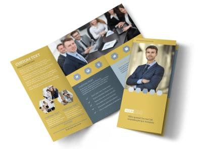 Venture Management Tri-Fold Brochure Template preview