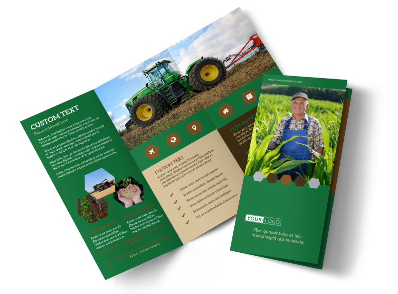 Agriculture Consultants Brochure Template Preview 4