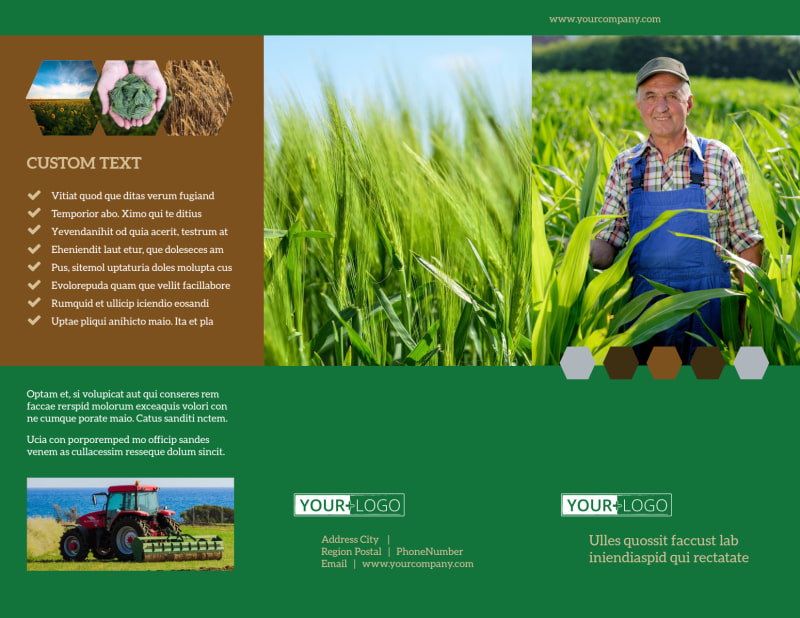 Agriculture Consultants Brochure Template Preview 2
