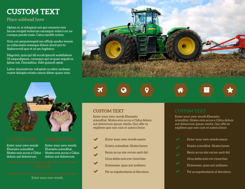 Agriculture Consultants Brochure Template Preview 3