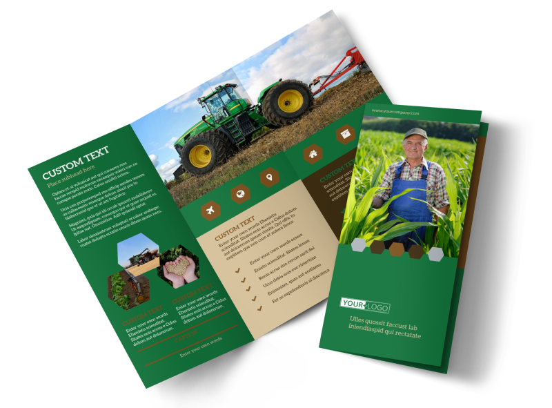 Agriculture Consultants Brochure Template Preview 1
