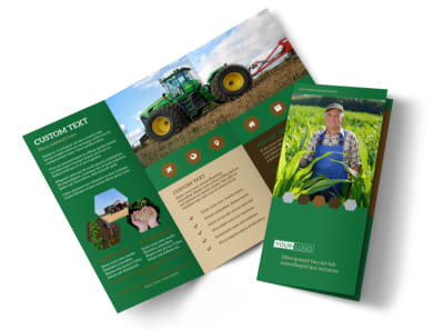Agriculture Consultants Tri-Fold Brochure Template preview
