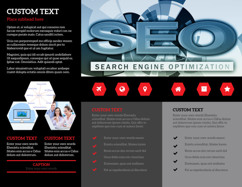 SEO Agency Brochure Template Preview 3