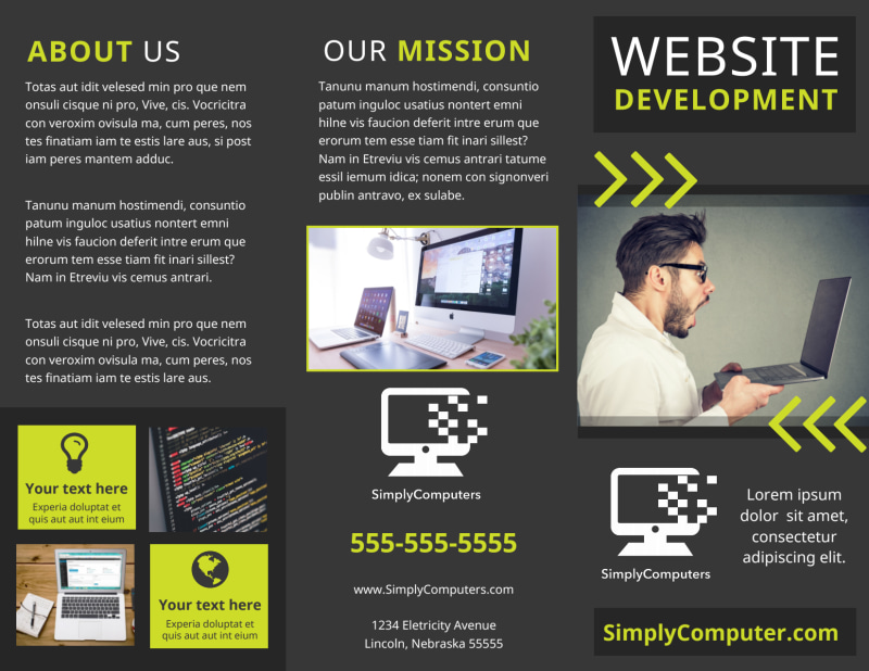 Web Development Brochure Template Preview 2